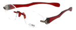 "I Wear America Designer Rimless Eyewear Made in the USA ""Freedom 1"" in Smoked Wine :: Rx Bi-Focal"