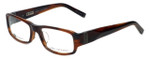John Varvatos Designer Eyeglasses V341AF in Brown-Horn 53mm :: Rx Single Vision