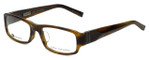 John Varvatos Designer Eyeglasses V341AF in Olive-Horn 53mm :: Rx Single Vision
