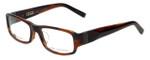 John Varvatos Designer Eyeglasses V341AF in Brown-Horn 53mm :: Progressive