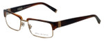 John Varvatos Designer Reading Glasses V137 in Brown-Horn 52mm