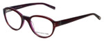 Jones New York Designer Eyeglasses J752 in Brown-Purple 49mm :: Rx Bi-Focal