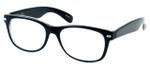 Calabria Soho 101 Black Crystal Designer Eyeglasses :: Custom Left & Right Lens