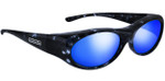Jonathan Paul® Fitovers Eyewear Small Binya in Blue-Cloud & Blue Mirror BN001BM