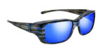 Jonathan Paul® Fitovers Eyewear Small Nowie in Brushed-Steel & Blue Mirror NW001BM