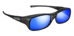 Jonathan Paul® Fitovers Eyewear Large Mooya in Black-Wind & Blue Mirror MY002BM