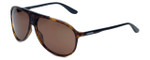 Carrera 6015/S Designer Sunglasses in Havana with Black & Dark Brown Lens