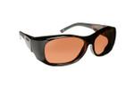 Haven Designer Fitover Sunglasses Sunset in Tortoise & Polarized Amber Lens (LARGE)