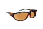 Haven Designer Fitover Sunglasses Hunter in Matte Tortoise & Polarized Amber Lens (LARGE)