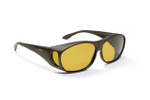 Haven Designer Fitover Sunglasses Meridian in Black & Polarized Yellow Lens (MEDIUM)