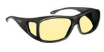 Haven Designer Fitover Sunglasses Night Driver in Black & Night Driver Yellow Lens (MEDIUM/LARGE)