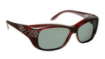 Haven Designer Fitover Sunglasses Morgan in Wine Crystal Comet & Polarized Grey Lens (MEDIUM/LARGE)