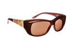 Haven Designer Fitover Sunglasses Morgan in Merlot & Polarized Driving Lens (MEDIUM/LARGE)