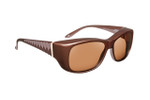 Haven Designer Fitover Sunglasses Morgan in Mocha & Polarized Amber Lens (MEDIUM/LARGE)