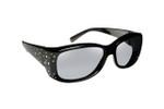 Haven Designer Fitover Sunglasses Dahlia in Black Crystals & Polarized Grey Lens (Small)