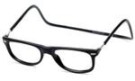 Clic Magnetic Eyewear Regular Fit Ashbury Style in Black :: Custom Left & Right Lens