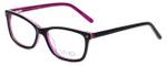 Calabria Viv Designer Eyeglasses 869 in Black-Purple 51mm :: Progressive