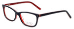 Calabria Viv Designer Eyeglasses 869 in Black-Red 51mm :: Progressive