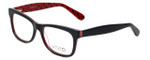 Calabria Viv Designer Eyeglasses 870 in Black-Red 55mm :: Progressive