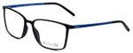 Calabria Viv Designer Eyeglasses 2016 in Black-Blue 55mm :: Rx Bi-Focal