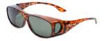 Montana Designer Fitover Sunglasses F02 in Gloss Tortoise & Polarized G15 Green Lens