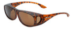 Montana Designer Fitover Sunglasses F02C in Matte Tortoise & Polarized Brown Lens