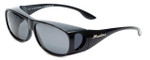 Montana Designer Fitover Sunglasses F02E in Gloss Black & Polarized Grey Lens