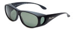 Montana Designer Fitover Sunglasses F03F in Matte Black & Polarized G15 Green Lens
