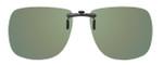 Montana Eyewear Clip-On Sunglasses C1A in Polarized G15 Green 62mm
