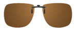 Montana Eyewear Clip-On Sunglasses C1B in Polarized Amber 62mm