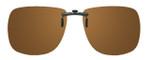Montana Eyewear Clip-On Sunglasses C1B in Polarized Amber 62mm