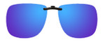 Montana Eyewear Clip-On Sunglasses C3A in Polarized Blue Mirror/Grey 62mm