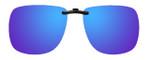 Montana Eyewear Clip-On Sunglasses C3A in Polarized Blue Mirror/Grey 62mm