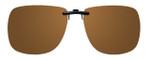 Montana Eyewear Clip-On Sunglasses C11B in Polarized Amber 62mm