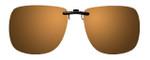 Montana Eyewear Clip-On Sunglasses C13B in Polarized Gold Mirror/Amber 62mm