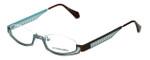 Eyefunc Designer Eyeglasses 288-18 in Gold & Blue 49mm :: Rx Single Vision