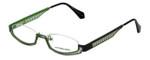 Eyefunc Designer Eyeglasses 288-54 in Silver & Green 49mm :: Rx Single Vision