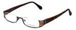 Eyefunc Designer Eyeglasses 327-18 in Orange Glitter 50mm :: Progressive