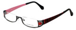 Eyefunc Designer Eyeglasses 327-69 in Red Glitter 50mm :: Progressive