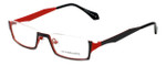 Eyefunc Designer Eyeglasses 530-69 in Black & Red 50mm :: Progressive