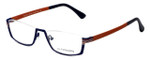 Eyefunc Designer Eyeglasses 591-90 in Blue & Orange 52mm :: Progressive
