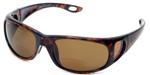 Coyote BP-17 Polarized Bi-focal Reading Sunglasses in Tortoise & Brown