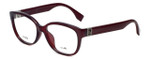 Fendi Designer Eyeglasses FF0068F-MKG in Burgundy 52mm :: Rx Single Vision