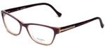 Vera Wang Designer Eyeglasses V340 in Wine 55mm :: Progressive