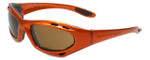 Harley-Davidson Designer Sunglasses HDV011-OR in Orange with Brown Lens