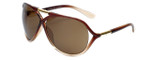 Carolina Lemke Designer Sunglasses CL3007 Brown Fade & Brown Lens