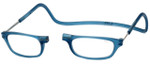Clic Magnetic Eyewear Regular Fit Original Style in Frosted Blue Jeans :: Custom Left & Right Lens