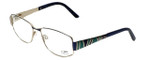 Cazal Designer Reading Glasses 1092-001 in Gold-Blue 55mm