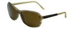 Porsche Designer Sunglasses P8558-D in Olive-Striped with Brown Lens