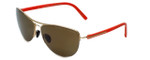 Porsche Designer Sunglasses P8570-B in Gold with Brown Lens